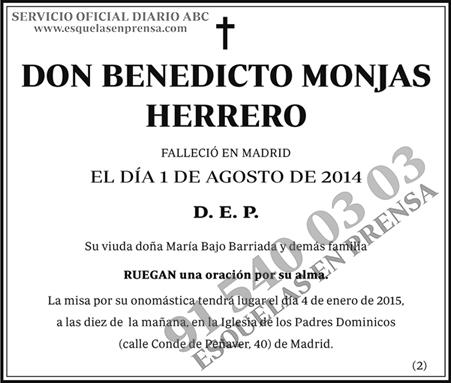 Benedicto Monjas Herrero